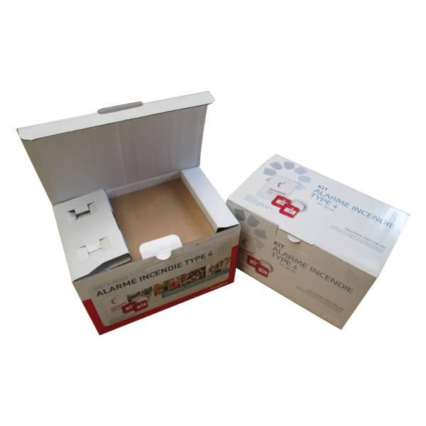 Boîte avec calage carton intégré impression quadri