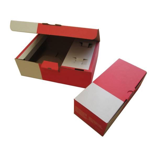 Boîte avec calage carton intégré impression une couleur