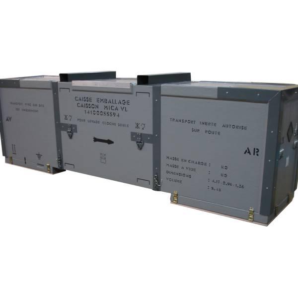 Caisse de transport de missile