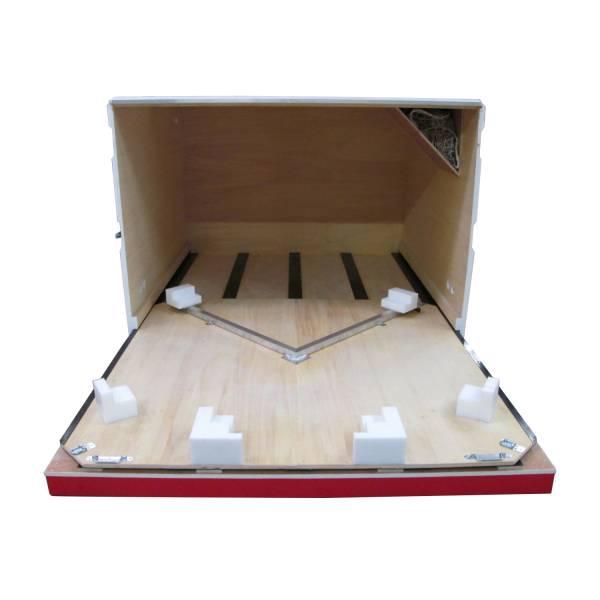 Intérieur caisse bois aménagée